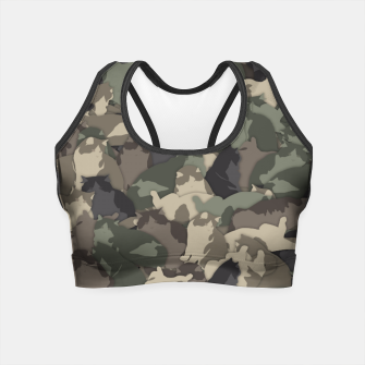 Fat cats camouflage Crop Top thumbnail image