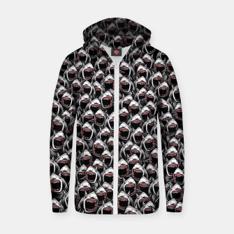 Thumbnail image of Great white sharks Zip up hoodie, Live Heroes