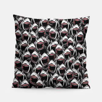 Thumbnail image of Great white sharks Pillow, Live Heroes