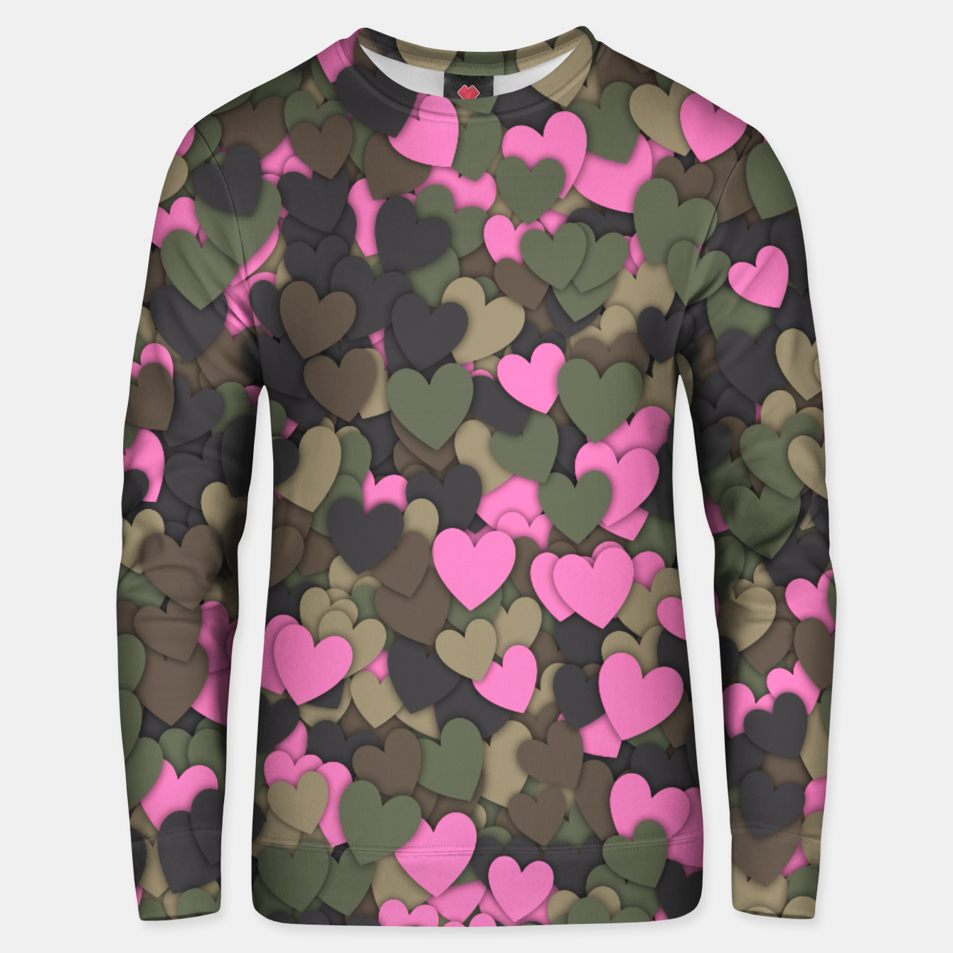 Image of Hearts camouflage Unisex sweater - Live Heroes