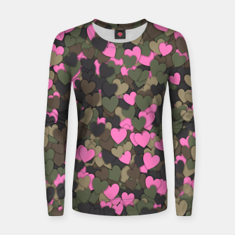 Hearts camouflage Women sweater thumbnail image