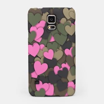 Hearts camouflage Samsung Case thumbnail image