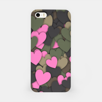 Hearts camouflage iPhone Case thumbnail image