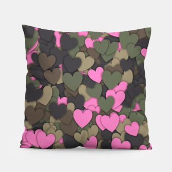 Thumbnail image of Hearts camouflage Pillow, Live Heroes