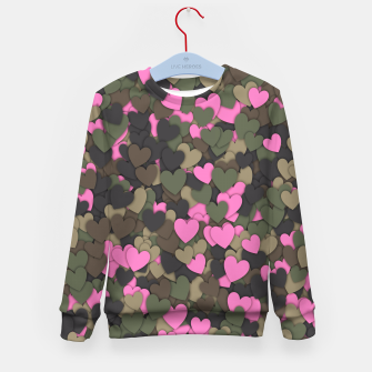 Hearts camouflage Kid's sweater thumbnail image
