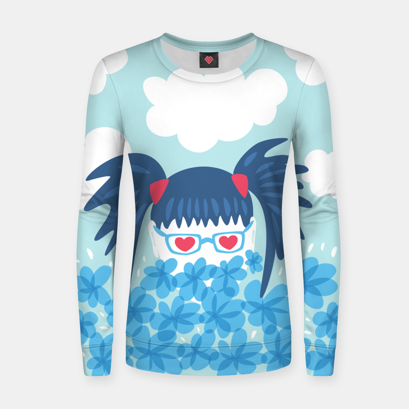 Image of Geek Girl And Flowers Women sweater - Live Heroes