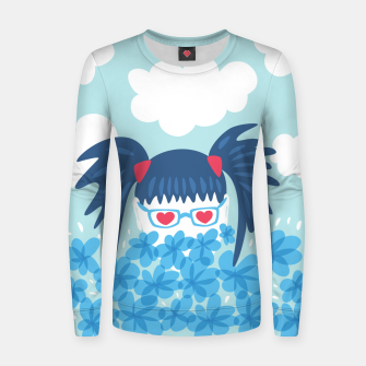Geek Girl And Flowers Women sweater thumbnail image