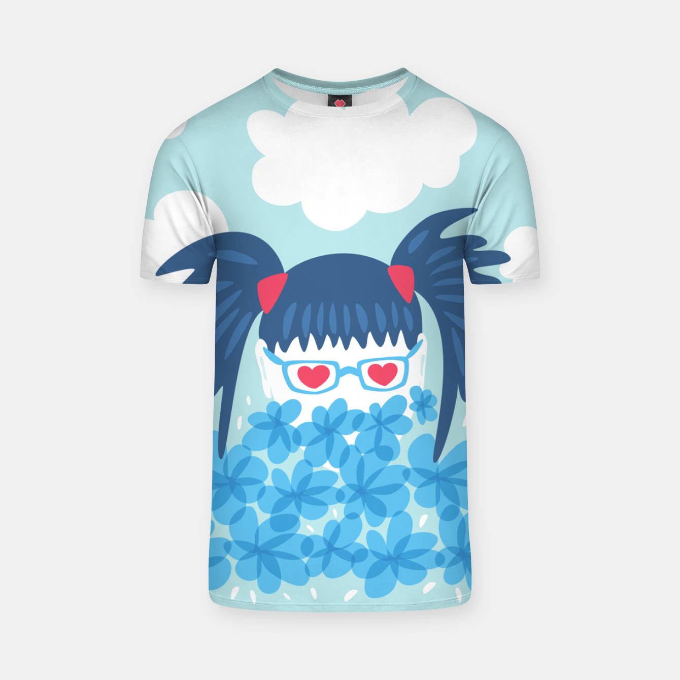 Image of Geek Girl And Flowers T-shirt - Live Heroes