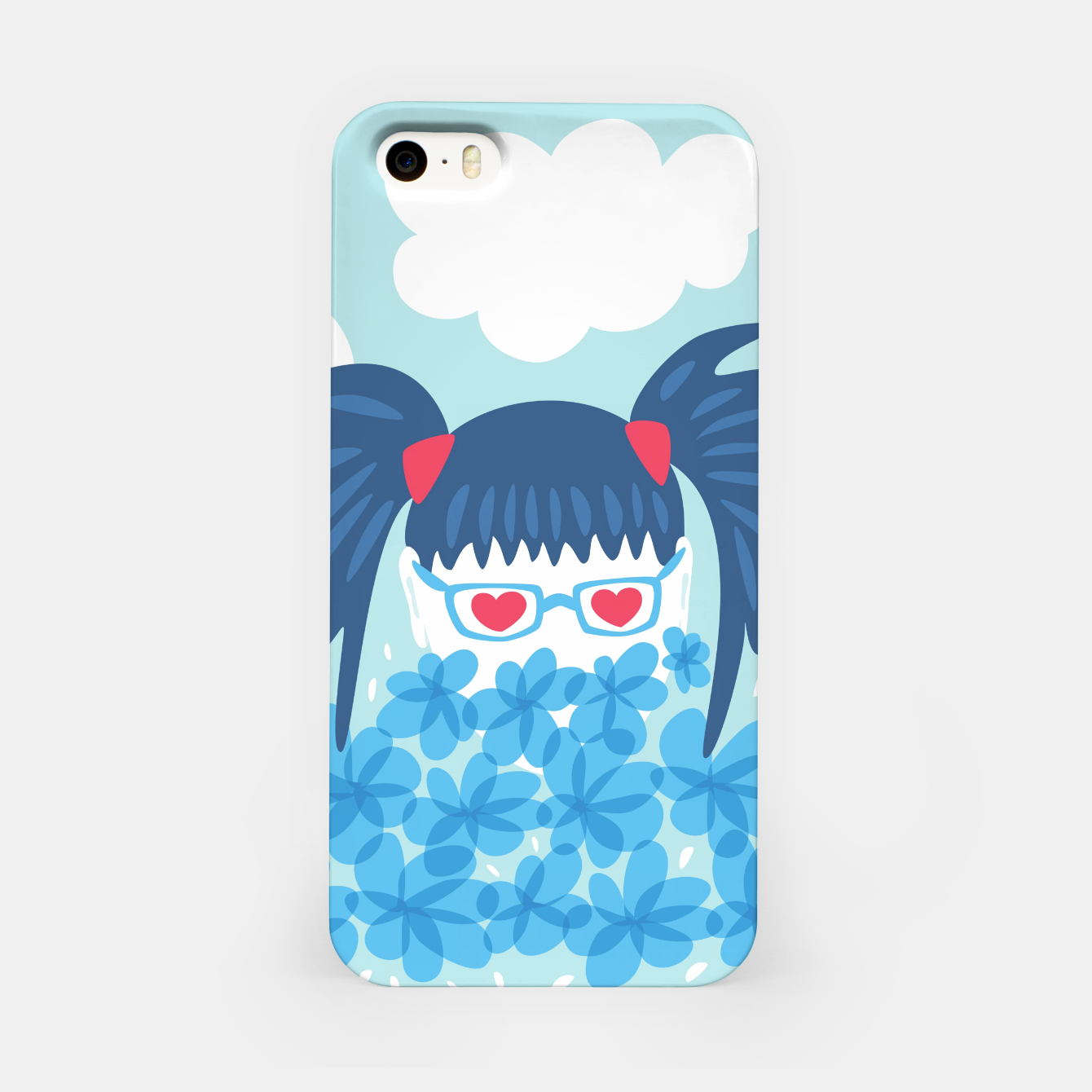 Image of Geek Girl And Flowers iPhone Case - Live Heroes