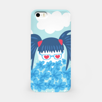 Thumbnail image of Geek Girl And Flowers iPhone Case, Live Heroes