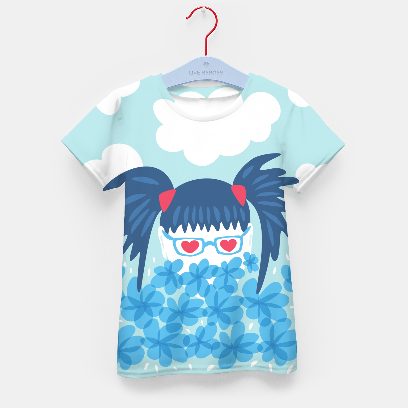 Image of Geek Girl And Flowers Kid's t-shirt - Live Heroes