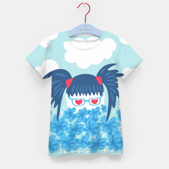 Geek Girl And Flowers Kid's t-shirt thumbnail image