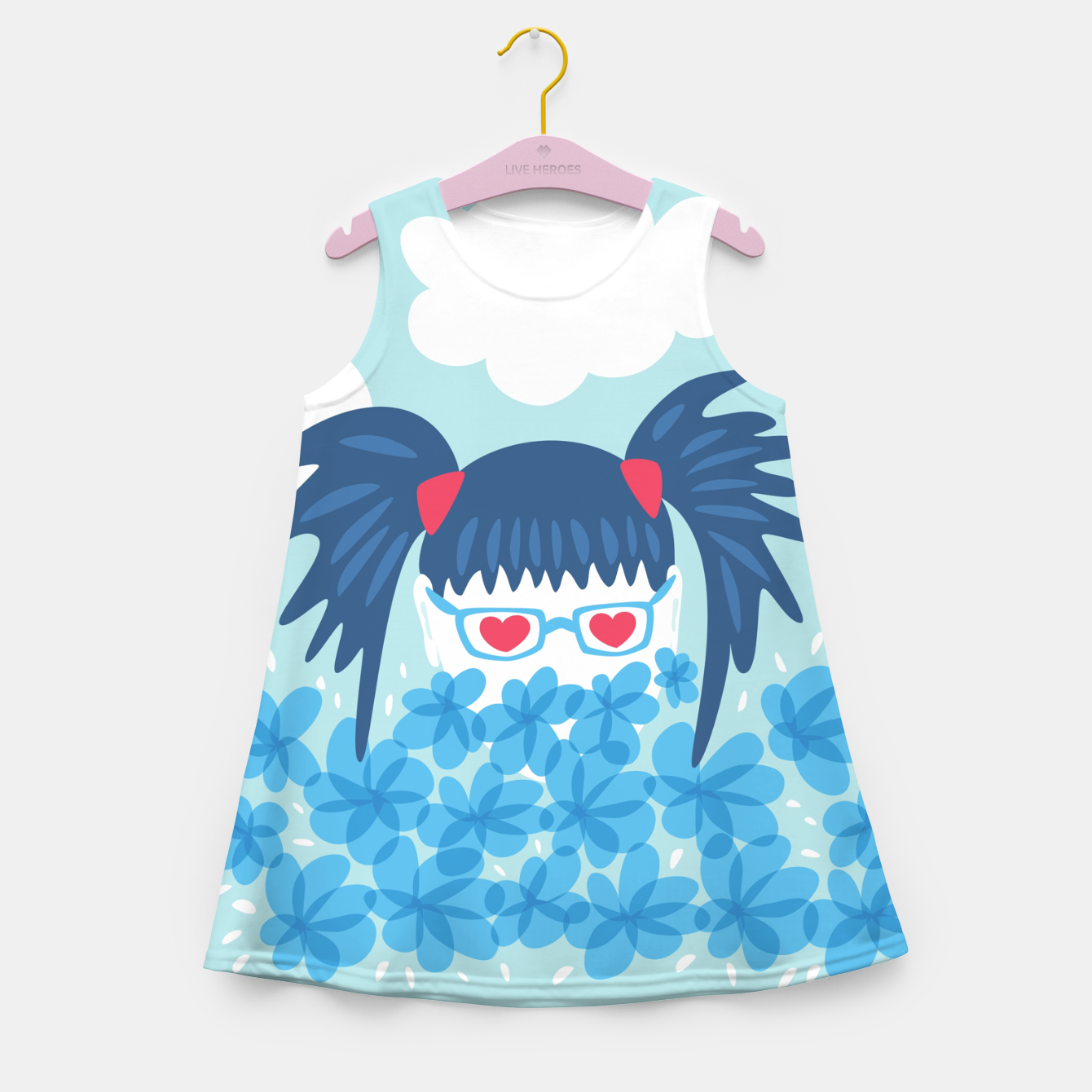Image of Geek Girl And Flowers Girl's summer dress - Live Heroes