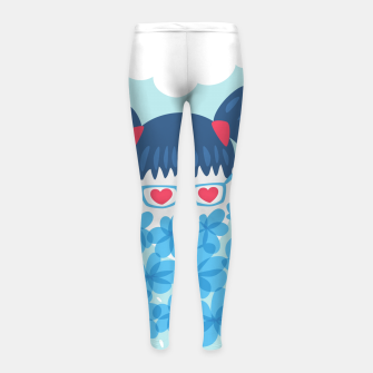Geek Girl And Flowers Girl's leggings thumbnail image