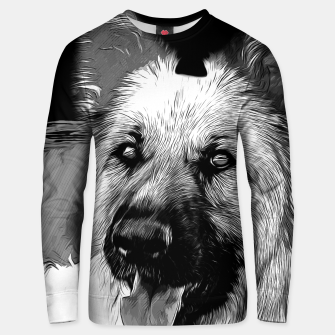 Thumbnail image of german shepherd dog v2vabw Unisex sweater, Live Heroes
