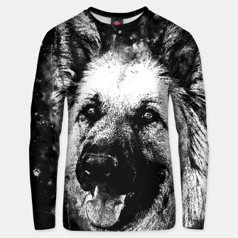Thumbnail image of german shepherd dog v2wsbw Unisex sweater, Live Heroes