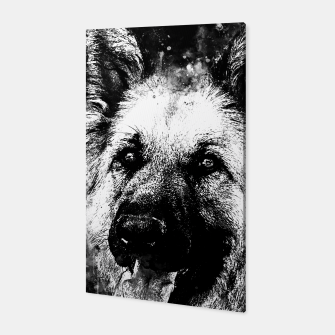 Thumbnail image of german shepherd dog v2wsbw Canvas, Live Heroes