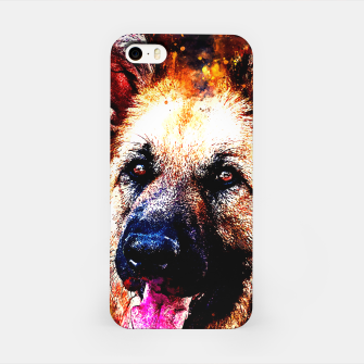Thumbnail image of german shepherd dog v2ws iPhone Case, Live Heroes