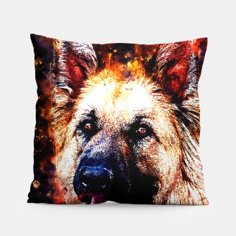 Thumbnail image of german shepherd dog v2ws Pillow, Live Heroes