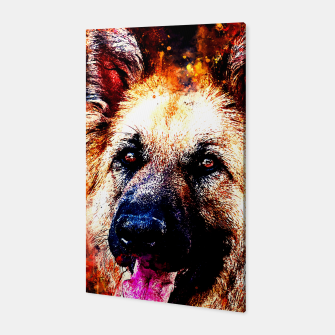 Thumbnail image of german shepherd dog v2ws Canvas, Live Heroes