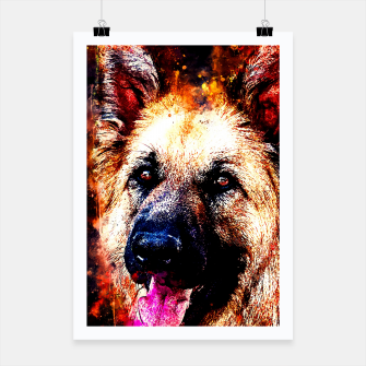 Thumbnail image of german shepherd dog v2ws Poster, Live Heroes