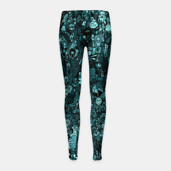 Thumbnail image of Big doodle Leggings para niña, Live Heroes