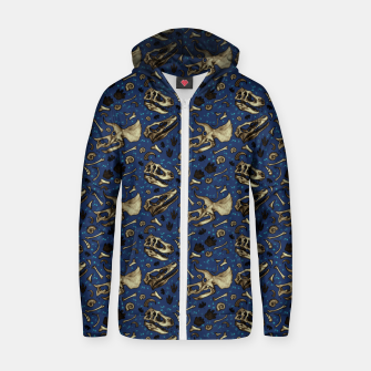 Fossil Bed Pattern Zip up hoodie thumbnail image