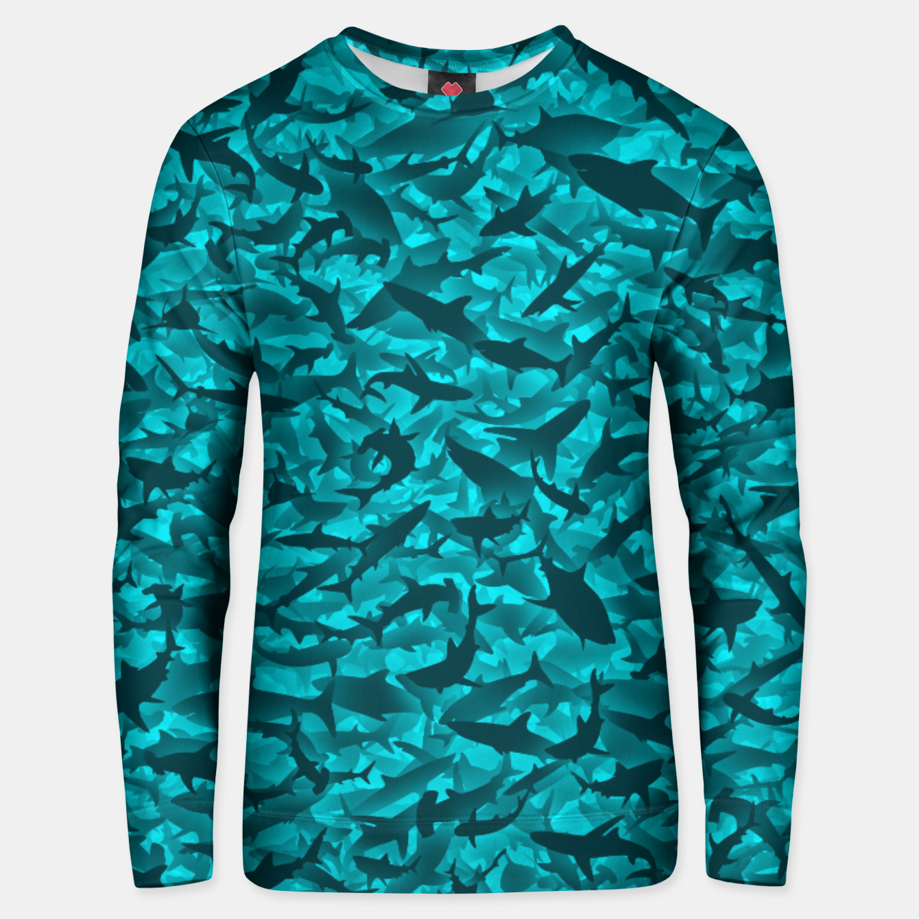 Image of Sharks camouflage Unisex sweater - Live Heroes