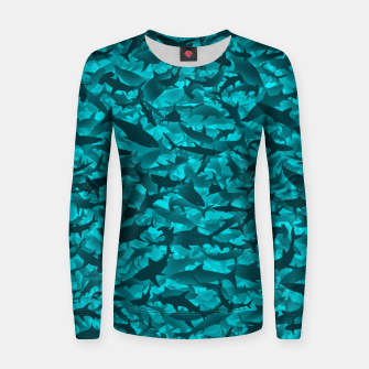 Sharks camouflage Women sweater thumbnail image
