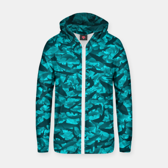 Sharks camouflage Zip up hoodie thumbnail image