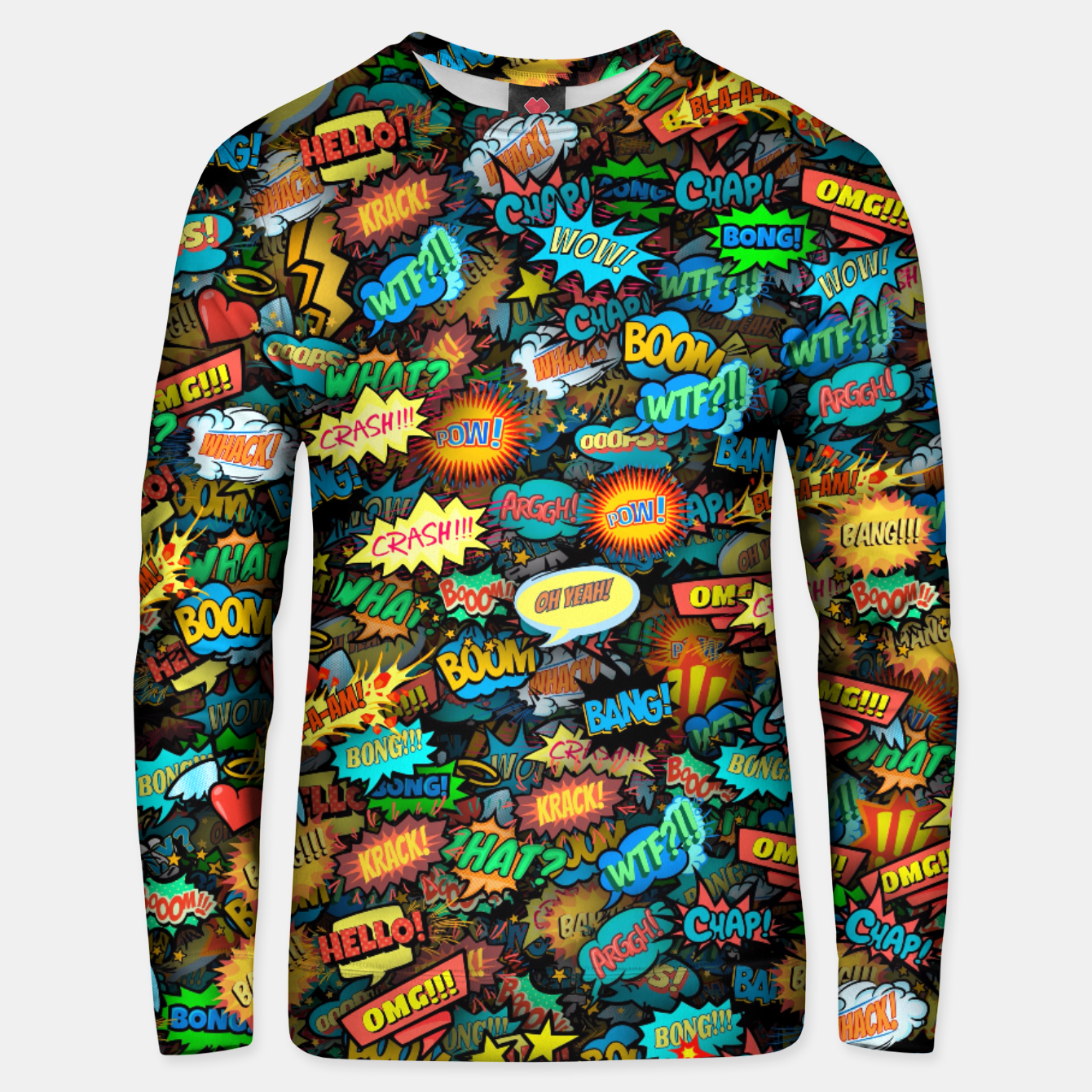Image of Comics special effects Unisex sweater - Live Heroes