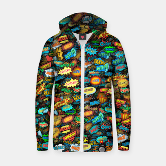 Comics special effects Zip up hoodie thumbnail image