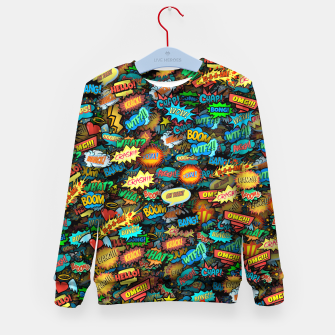 Comics special effects Kid's sweater thumbnail image