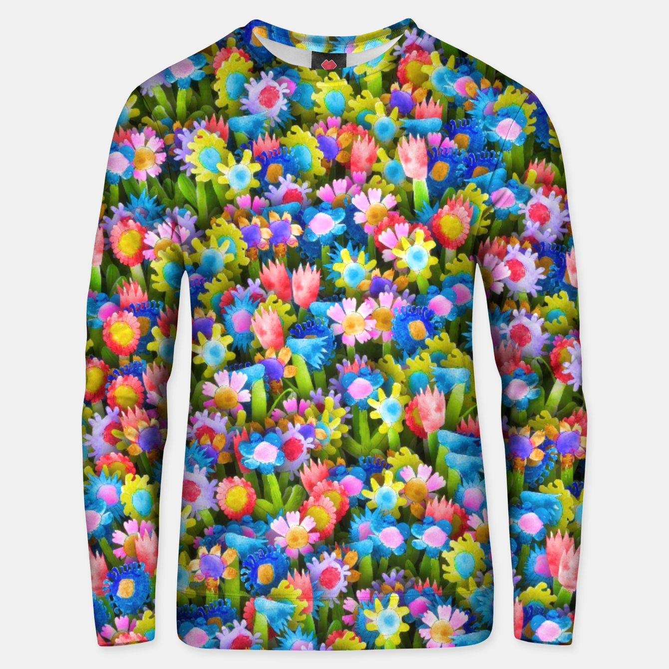 Image of Flowers. Children's drawings Unisex sweater - Live Heroes