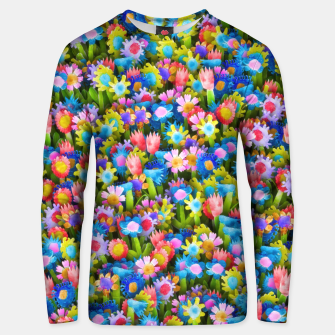 Thumbnail image of Flowers. Children's drawings Unisex sweater, Live Heroes