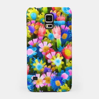 Miniatur Flowers. Children's drawings Samsung Case, Live Heroes