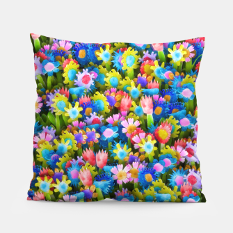Miniatur Flowers. Children's drawings Pillow, Live Heroes