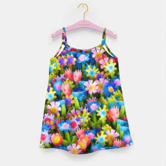 Miniatur Flowers. Children's drawings Girl's dress, Live Heroes