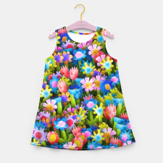Thumbnail image of Flowers. Children's drawings Girl's summer dress, Live Heroes
