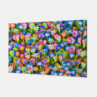 Miniatur Flowers. Children's drawings Canvas, Live Heroes