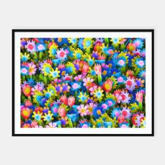 Miniatur Flowers. Children's drawings Framed poster, Live Heroes
