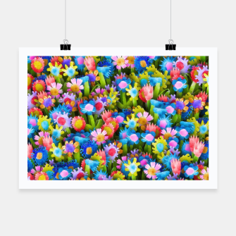 Miniatur Flowers. Children's drawings Poster, Live Heroes