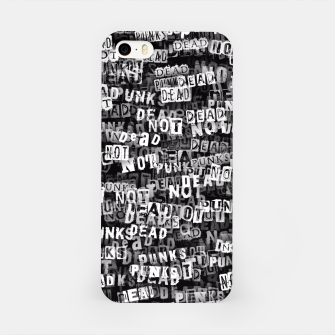 Punks not dead iPhone Case thumbnail image