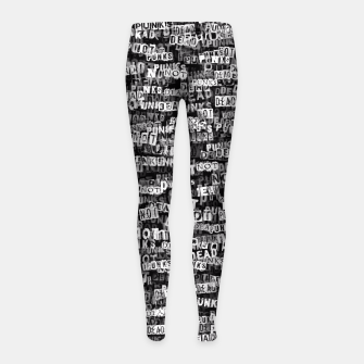 Punks not dead Girl's leggings thumbnail image