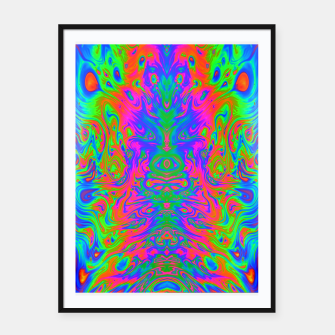 Thumbnail image of Slurp (psychedelic, swirl, trippy) Framed poster, Live Heroes