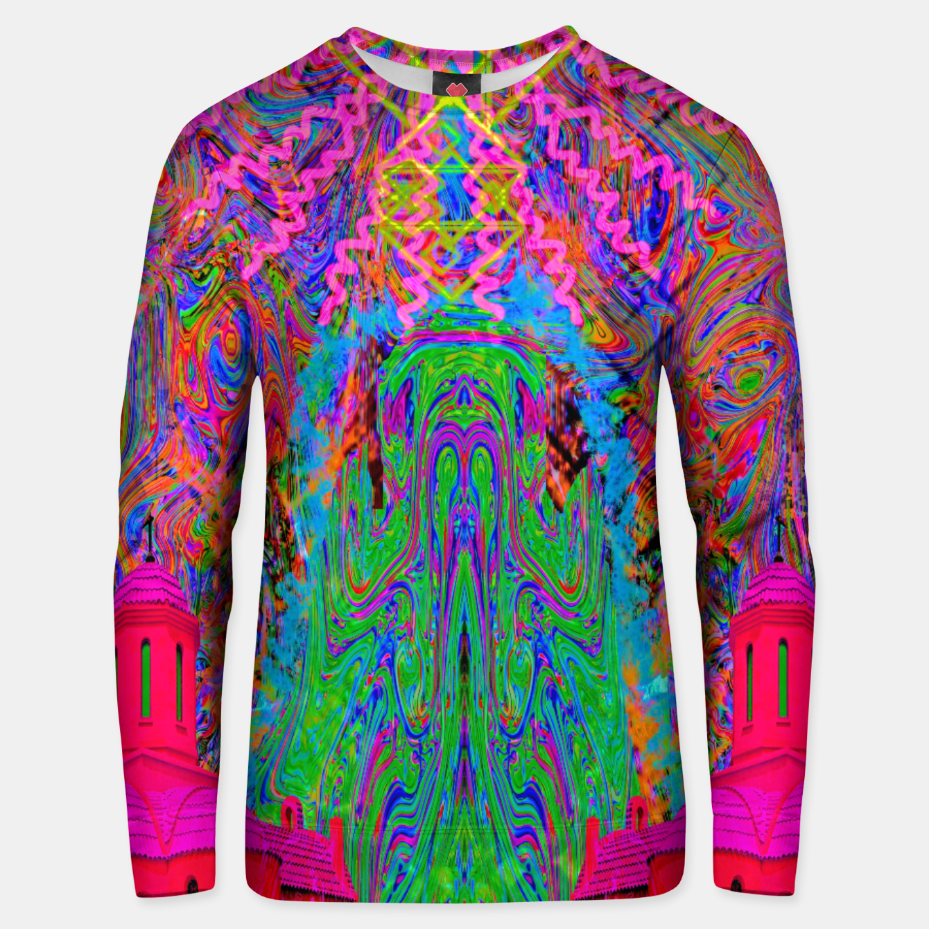 Image of Baked By A Southwest Prayer (trippy, psychedelic, abstract) Unisex sweater - Live Heroes