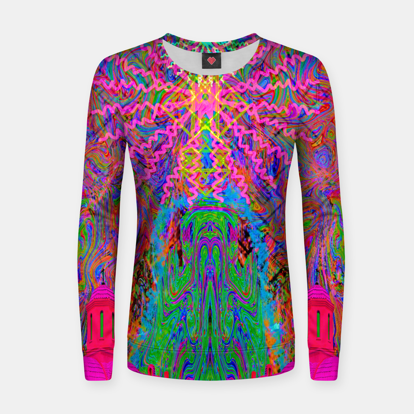 Image of Baked By A Southwest Prayer (trippy, psychedelic, abstract) Women sweater - Live Heroes