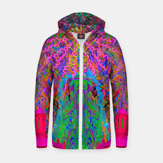 Baked By A Southwest Prayer (trippy, psychedelic, abstract) Zip up hoodie thumbnail image