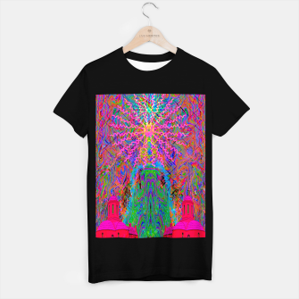 Baked By A Southwest Prayer (trippy, psychedelic, abstract) T-shirt regular thumbnail image
