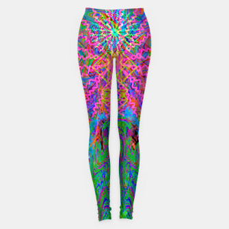 Baked By A Southwest Prayer (trippy, psychedelic, abstract) Leggings thumbnail image